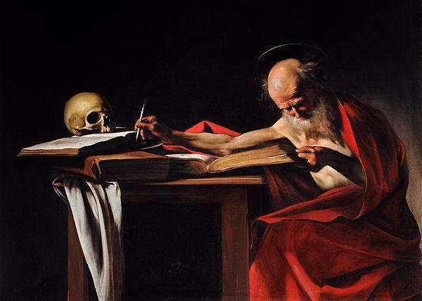 لوحة كارفاجيو عن القديس جيروم